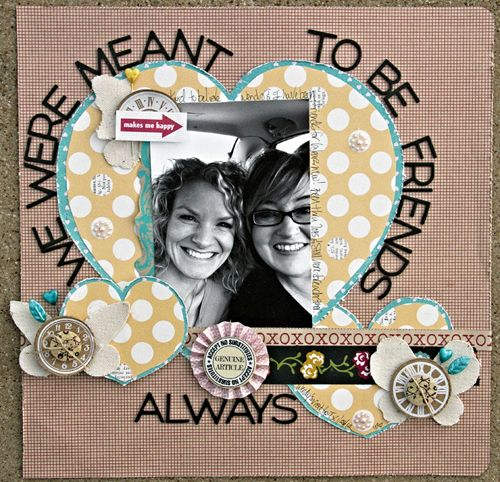 "Leslie Ashe's Friendship layout, inspired by ""A Sweethaven Summer"""