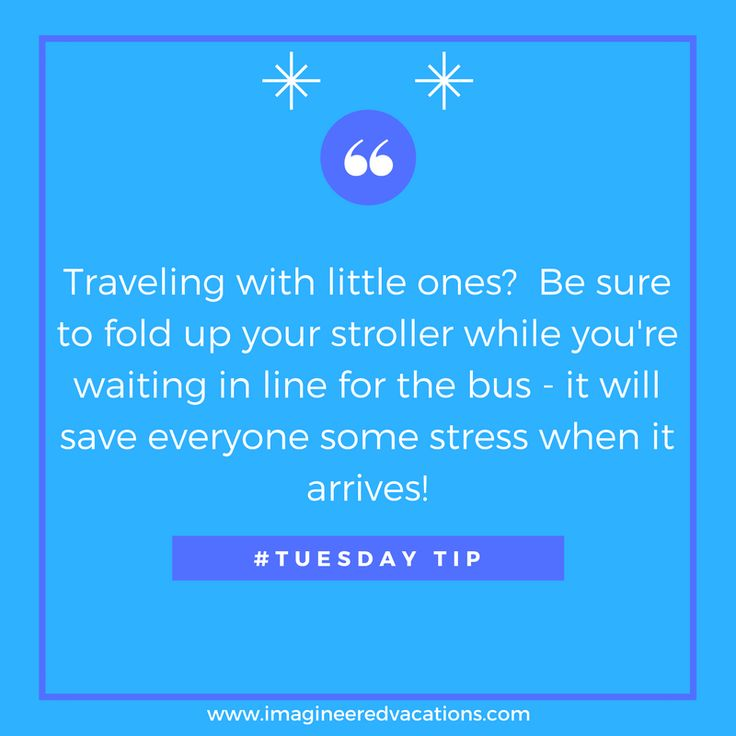 #DisneyTip: Fold your stroller before the you see the bus!