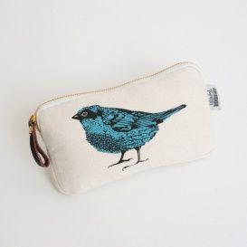 lone bird zip purse