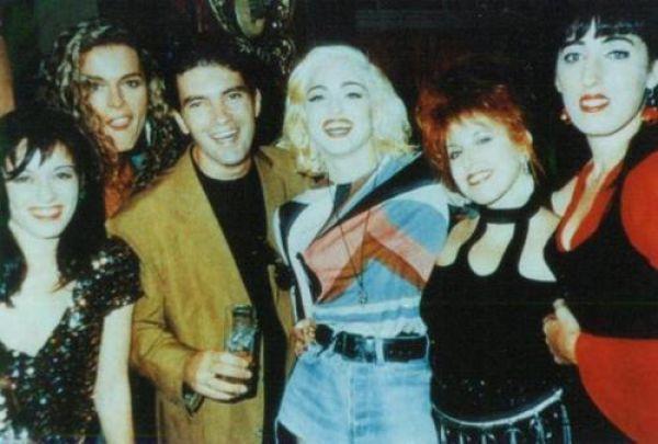 Antonio Banderas, Madonna and Rossi De Palma