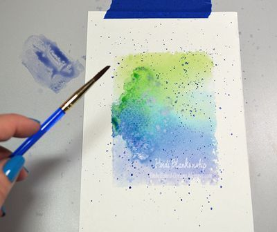 Tutorial Tuesday Watercolor Series Part I -Creating Designer Papers with Distress Inks and Distress Markers with Heidi Blankenship | JustRite Papercraft Inspiration Blog
