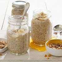 Banana-Nut Oatmeal-sub non-dairy milk for vegan