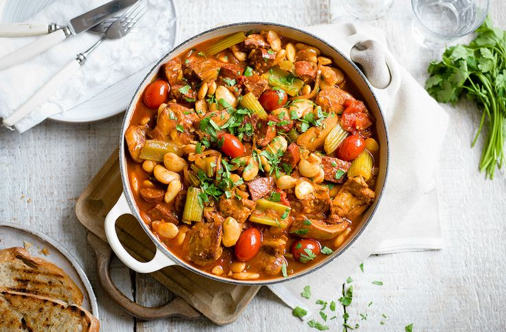 This easy slow cooker chicken casserole recipe, with a rich tomato sauce, is a real family favourite. Visit Tesco Real Food for more slow cooker recipes.