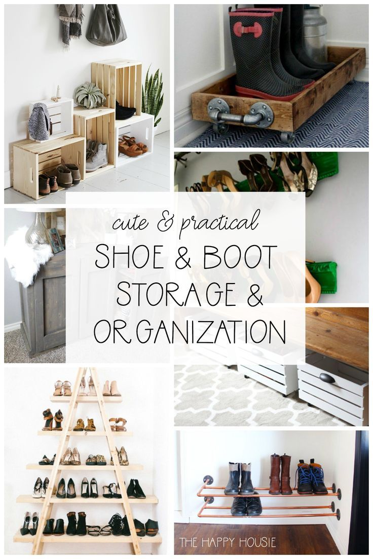 Cute Practical Diy Shoe Storage And Organization Blogger Stylin Home Tours Pinterest Organizing Shoes Ideas