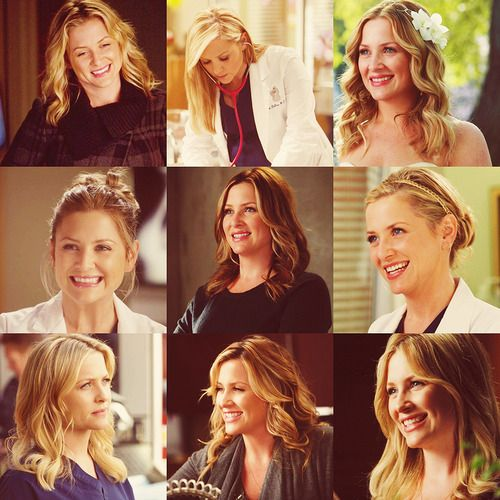 Arizona Robbins and her nursing hair!