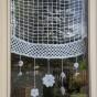 rideau crochet fleurs 40x50: Rideau Crochet, Crochet Fleurs, Tricot Crochet