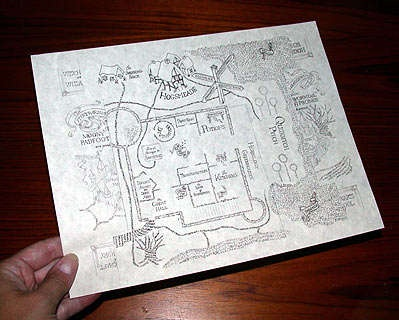 link to PDF for printable Marauder's Map with instructions