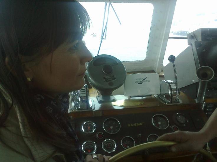 Alla 44a Barcolana, sulla plancia della Umberto Ancona, la nave scuola dell'Istituto Nautico di Trieste - Trieste, 13 ottobre 2012