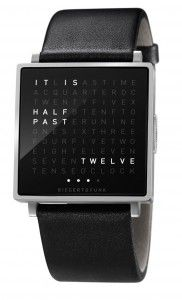 Known as the QLOCKTWO W, the timepiece is a portable revision of