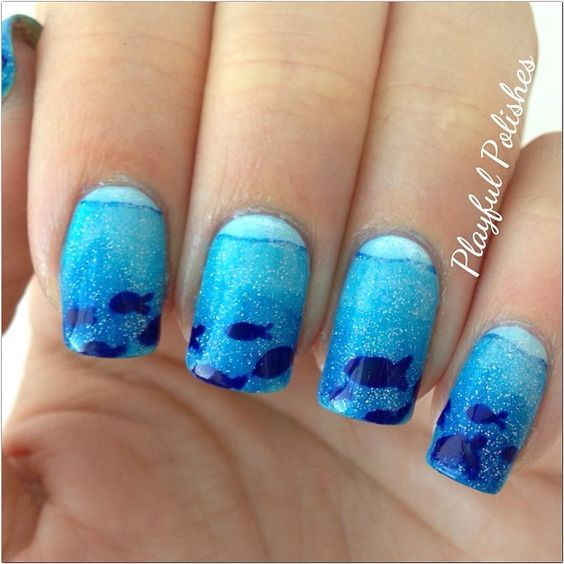 Browse through the post immediately and you may get inspiration from the  awesome designs. Hope · Fish Nail ArtOcean Nail ... - 55 Best Ocean/Beach Nail Art Images On Pinterest Beach Nail Art