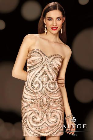 Alyce Paris Homecoming - 4378  Need something special to wear this weekend? Look no further! A gorgeous evening gown.