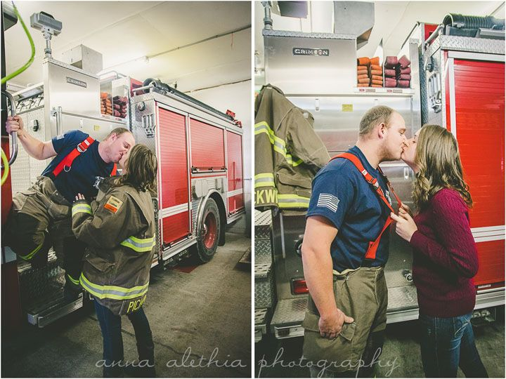 Firefighter Engagement Photos, Pickwick MN