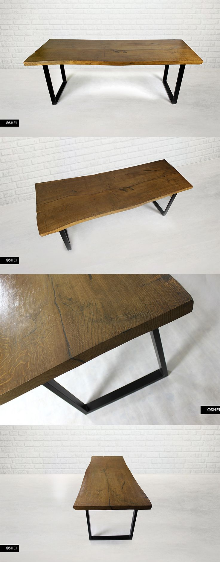 For an individual order we prepared beautiful in its simplicity, and surprising with its naturalness table of 80- year-old oak cants. Despite its age and size (220 cm), the wood has retained its original shape, perfectly matching the design of legs. Such old wood, however, requires an appropriate approach; the maintenance and processing of the wood consumed more than 3 weeks of work ... but it was worth it! #oldwood, #woodentable