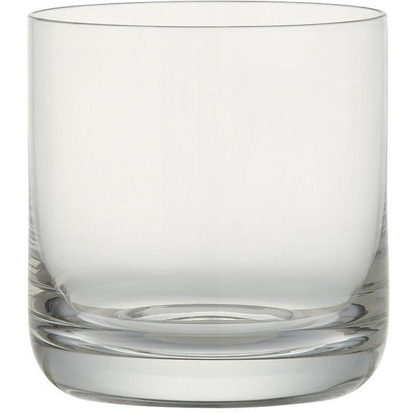 Crate & Barrel Crescent 6 oz. Juice Glass ($5.95) ❤ liked on Polyvore featuring home, kitchen & dining, drinkware, crate and barrel, glass drinkware e juice glass