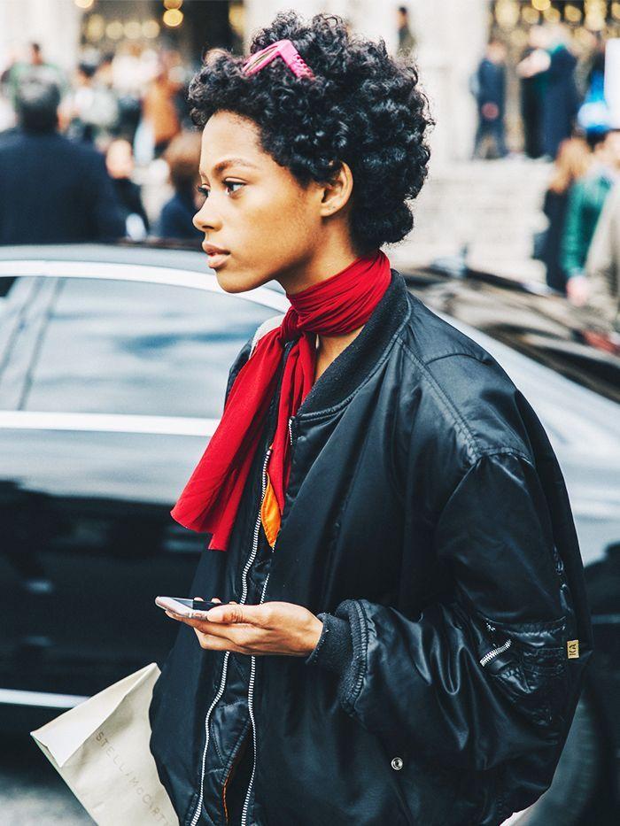 10 Stylish Ways to Tie a Silk Scarf, From Fashion Girls via @WhoWhatWear