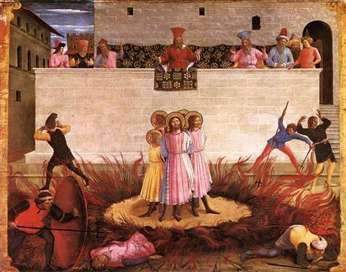 BEATO ANGELICO - San Cosma e San Damiano condannati - predella Pala di San Marco - tempera su tavola - 1438-40 - Galleria Nazionale d'Irlanda, Dublino