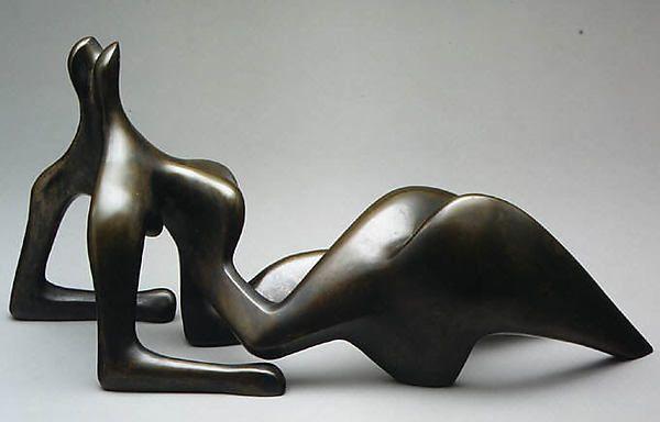 Reclining Nude  Artist:Henry Moore (British, Castleford 1898–1986 Much Hadham) Date:1950 Medium:Bronze Dimensions:8 x 17 5/8 x 5 in. (20.3 x 44.8 x 12.7 cm)