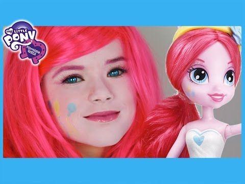 My Little Pony Pinkie Pie Makeup Tutorial! Equestria Girls Doll Cosplay   Kittiesmama - YouTube