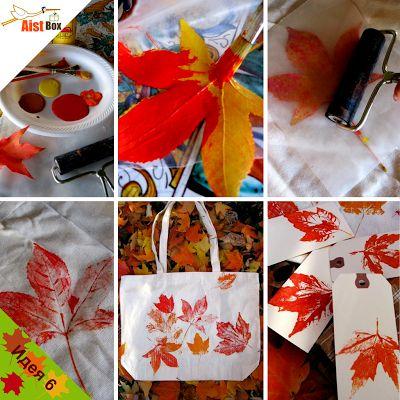 Осенние цвета вдохновляют на творчество. Так почему бы не сделать сумку с принтом, который будет ассоциироваться у нас с золотой осенью.