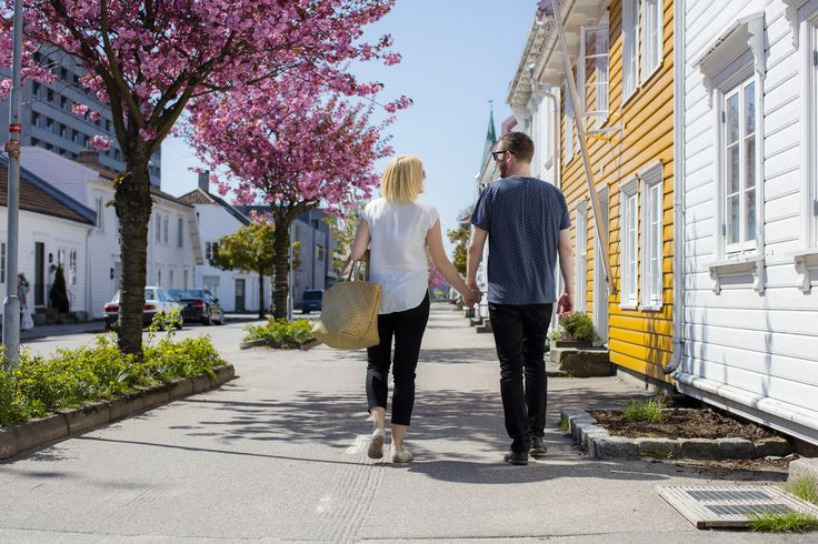 Idyllic in Posebyen in Kristiansand, Southern Norway. #Cherryblossom  Photo: Adam Read©Visit Southern Norway