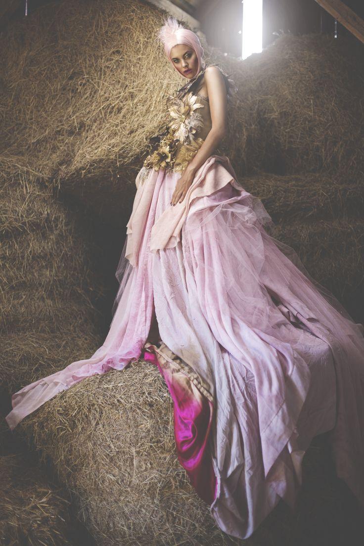 #makeup by #toronto #makeupartist Maya Goldenberg. #hair by #hairstylist Duyen Huyhn.  Photo by Natasha Gerschon. Model: Sid (Spot6Management) Styling: Kirsten Schmidtke Designer: Gavarcia ode to #AlexanderMcQueen and #JohnGalliano #equine #horses #editorial #fall #beauty #goldleaf #lace #pinklip #pinkhair #mohawk #fauxhawk #washlid #liquid #metallic #makeup #gold #lid  #eyeshadow #glitter #sparkles #tanned #flawlesskin #strobing #plummylips #runwayinspired #makeup #fashion