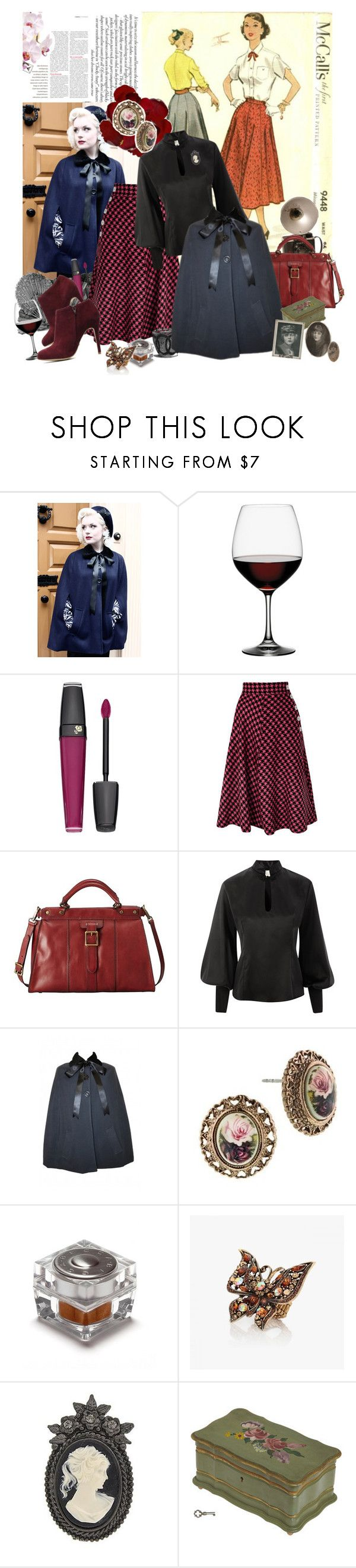 """""""1950's"""" by valc5 ❤ liked on Polyvore featuring Tara Starlet, Spiegelau, Lancôme, Freeze, FOSSIL, 1928 and Becca Cosmetics"""