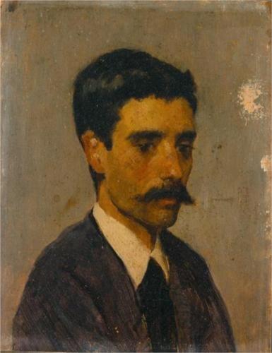 Auto-retrato - António de Carvalho da Silva Porto  self-portrait, 1873