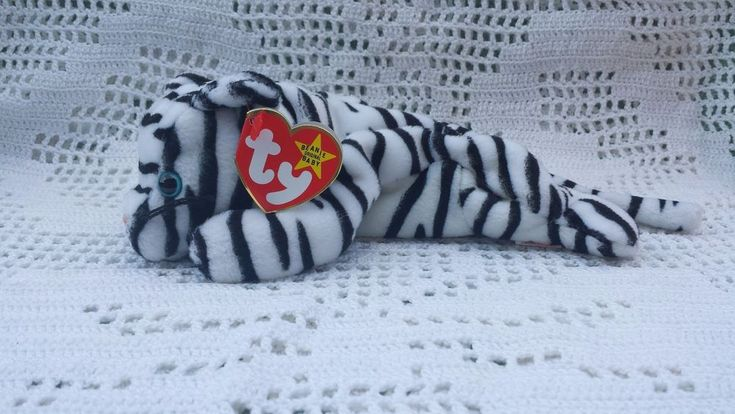 White Tiger Ty Original Beanie Babies Retired Blizzard 12/12/1996 MWMT 3+ #Ty