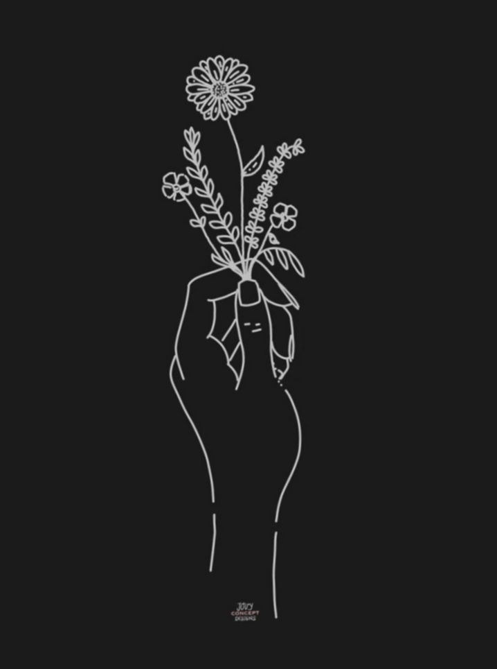✓ Drawing Hand Holding Flowers #drawingpractice #art #artlover   How to draw  hands, Hands holding flowers, Hand tattoos
