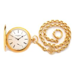 Patek Philippe 18k Yellow Gold Pocket Watch with Patek – Current sales – Barnebys.com