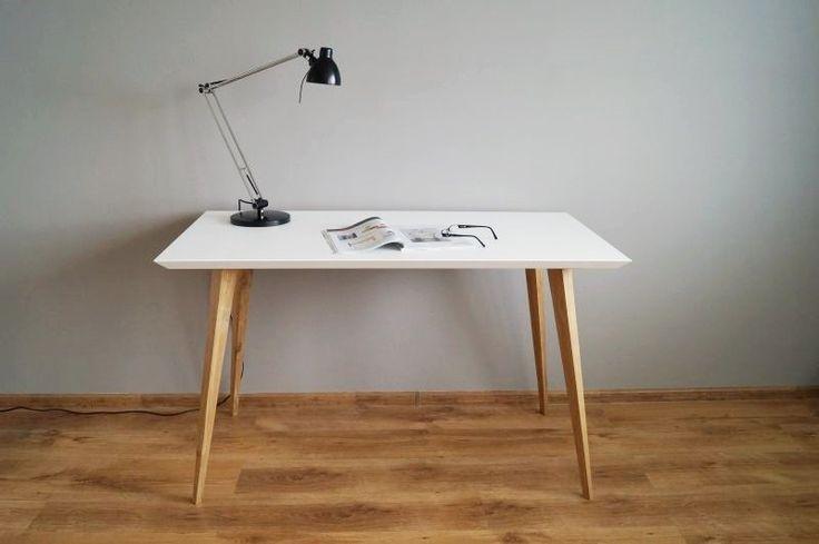 Biurko/stół Oak and white Simple w Pracownia EMBE na DaWanda.com