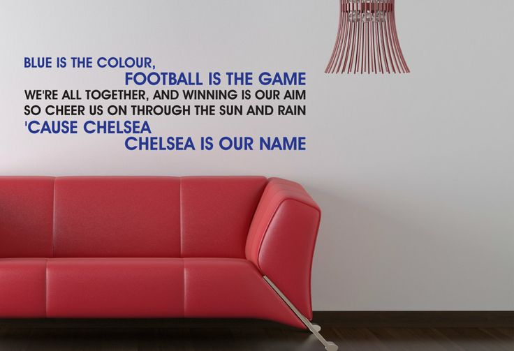 Chelsea+FC+Blue+Is+The+Colour+Song+Wall+by+BeautifulGameWallArt,+£15.00