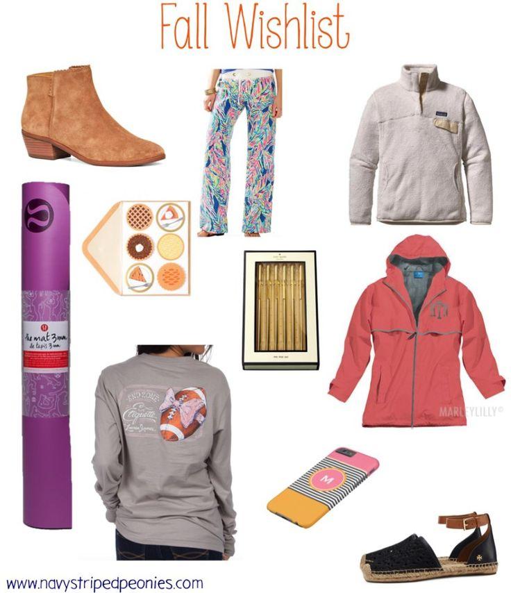 My preppy fall essentials / fall wishlist
