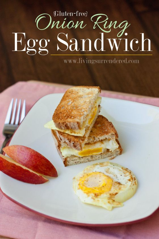 Onion Ring Egg Sandwich