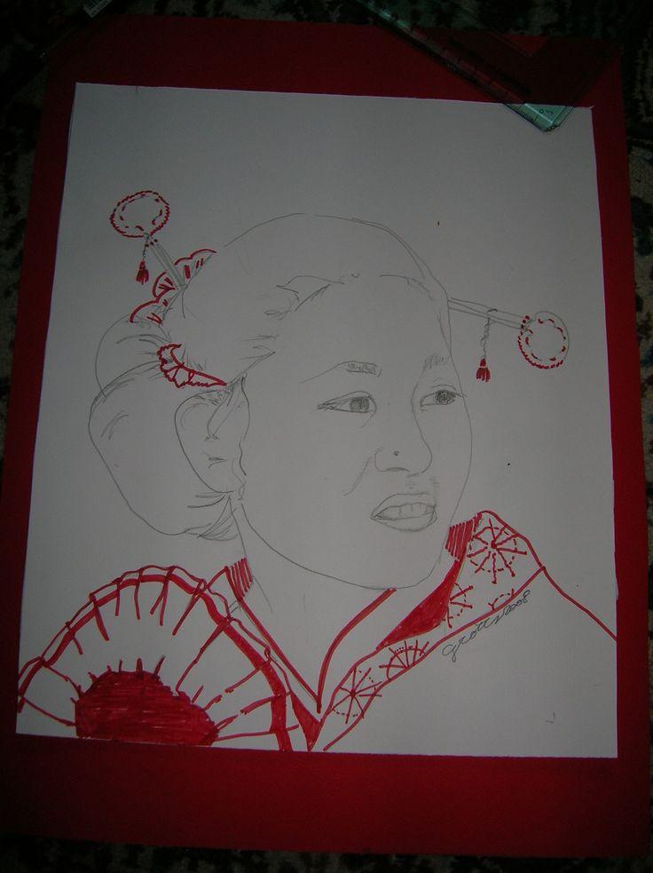 disegno su cartoncino  Giorgia