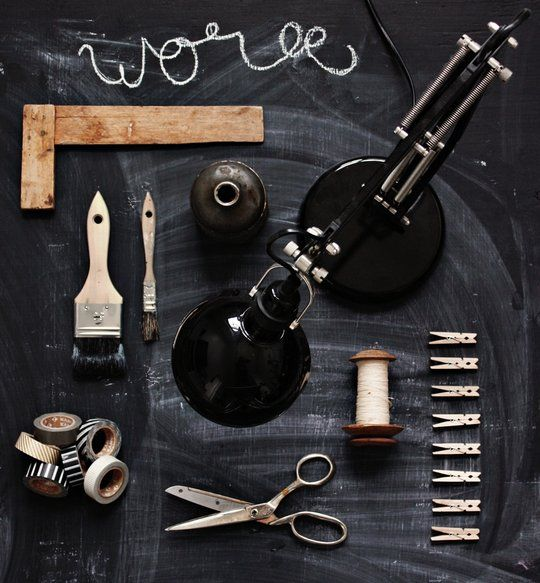 work | via lily: Lamps, Dirty Parquet, Ideas, Charcoal, Tools, Inspiration, Chalkboards Paintings, Moodboard, Black