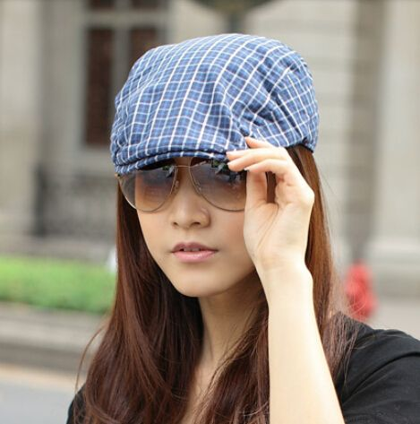 Fashion plain blue flat cap for women Taylor Swift same paragraph
