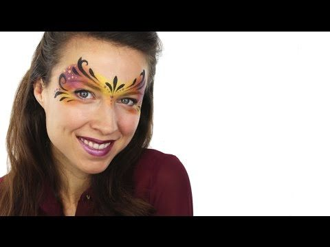 Easy Carnival Mask Face Paint Tutorial | Snazaroo - YouTube @ashleahenson @snazaroofaces #Snazaroo #carnival