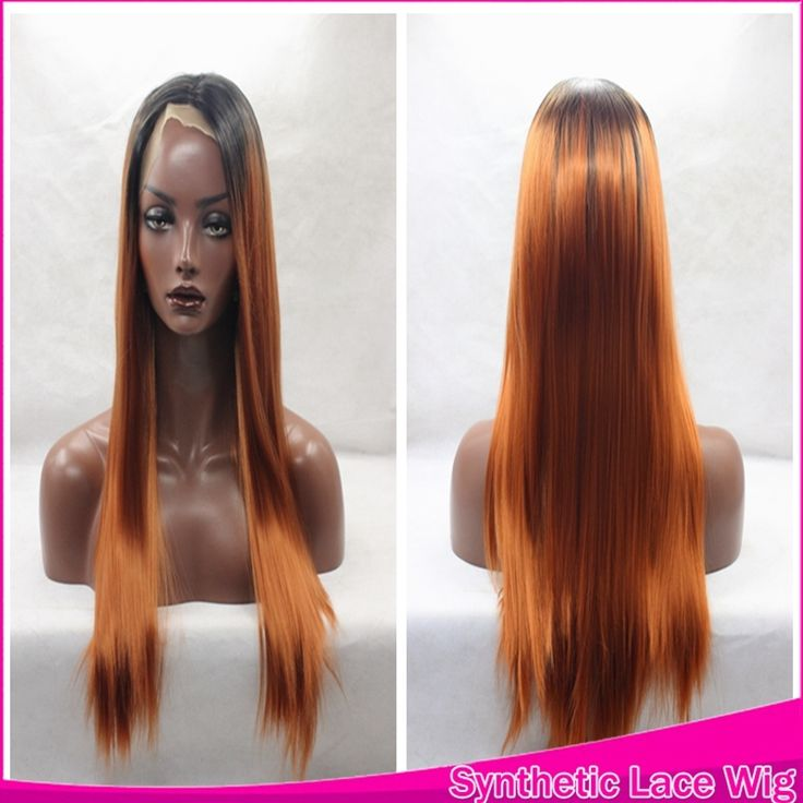 31.17$  Watch more here - http://aige6.worlditems.win/all/product.php?id=32706217040 - Natural Look Front Lace Wigs Black Ombre Brown Long Straight Wig Heat Resistant Synthetic Lace Front Wig Peruca Hair For Women