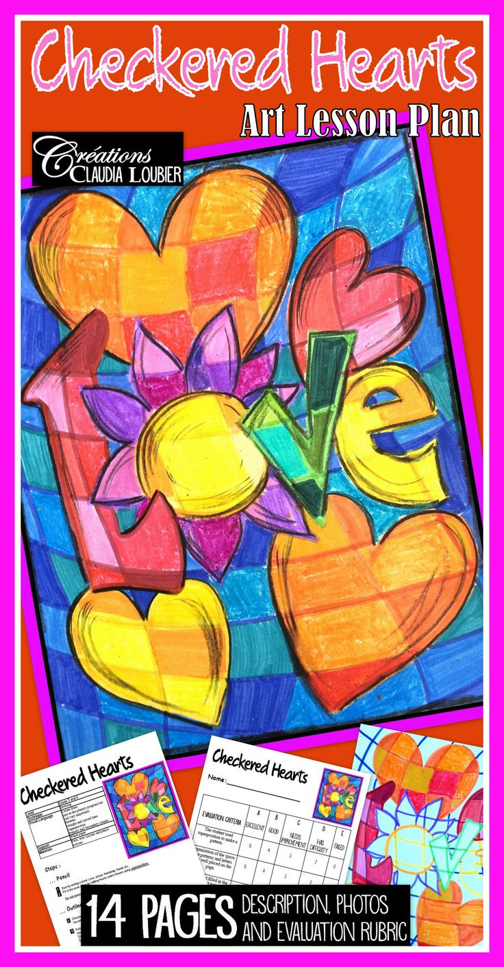 Here is a project for Grade 4 and up (as well as junior high and high school) for Valentine's Day. The materials are very simple: Just felts, wax crayons and pencil crayons.  You will be working with colour hues, patterns and superposition. A little puzzle that they will enjoy solving. Fun and enriching.  Complete instructions, explanatory photos and evaluation rubric are included. 14 pages. Ready, Set, Go!