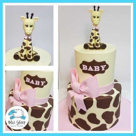 giraffe baby shower cake nj