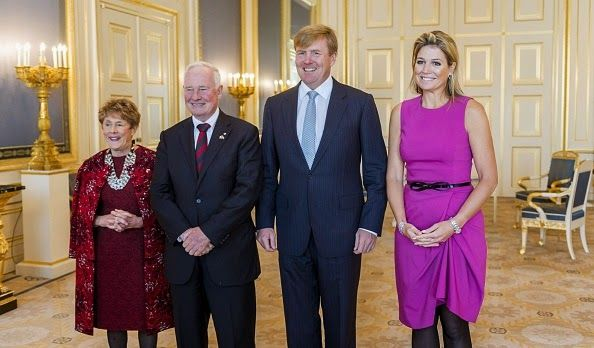 MyRoyals: King Willem-Alexander and Queen Maxima received Governor General of Canada David Johnston and his wife Sharon Johnston, October 27, 2014