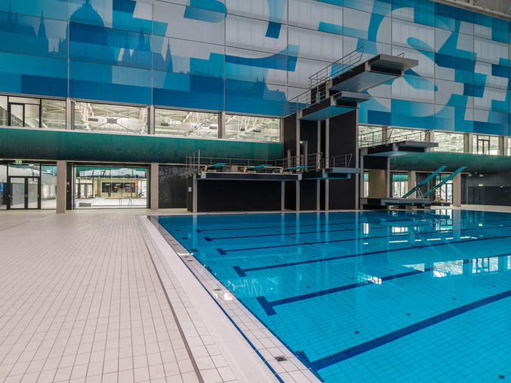 Dive pool at the 2017 FINA World Championships features Agrob Buchtal pool tiles and special pieces.