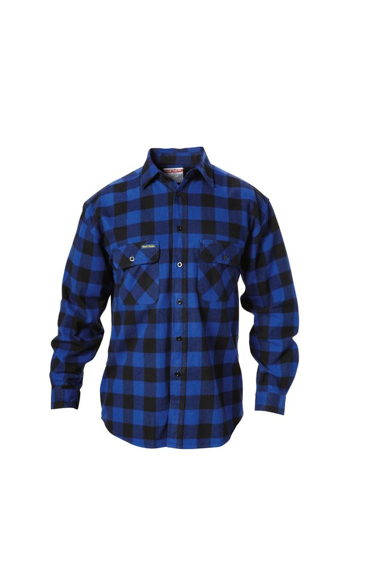 Hard Yakka Check Flannel Shirt Long Sleeve