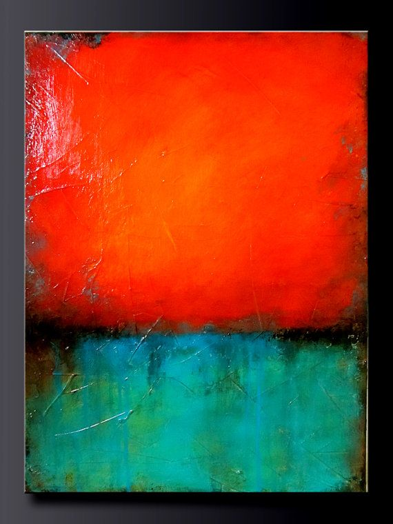 Turquoise Gem - 16 x 20 - Acrylic Abstract Painting - Highly Textured