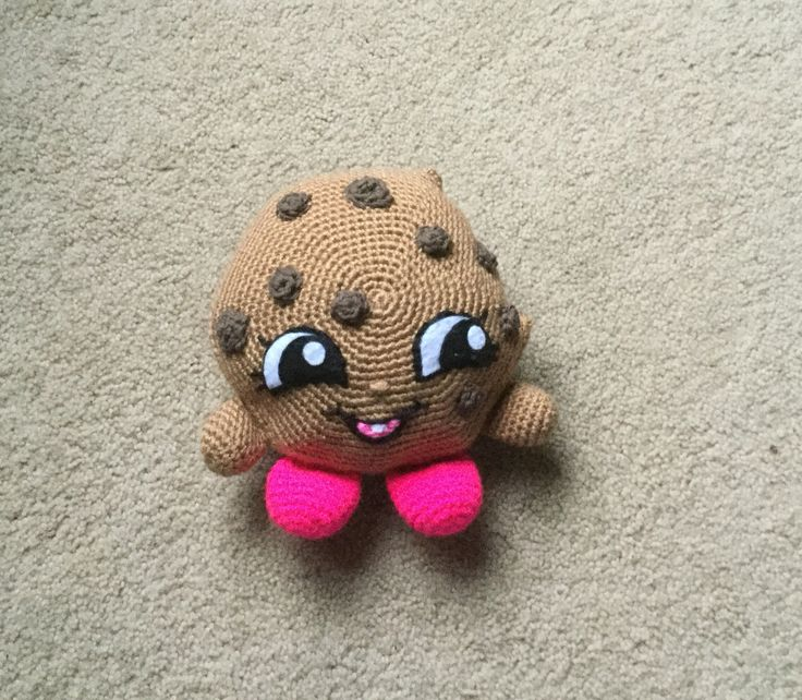 Shopkins inspired crochet Kooky a cookie