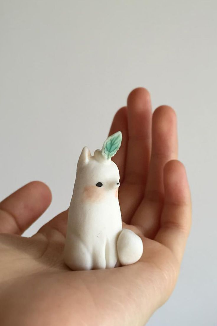 Fantasy Creature Miniature Sculpt Figure Figurine Magnet Handmade Brooch Polymer Clay Animals Fant