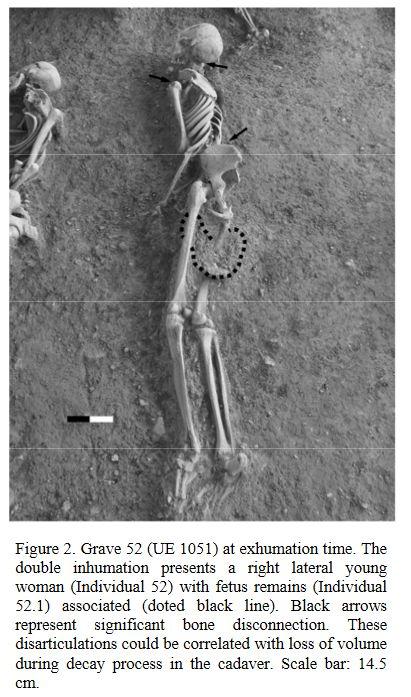 Mujer con feto. Necrópolis Andalusí de Baza.