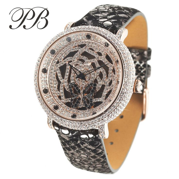 Find More Women's Watches Information about PB Brand Top Luxury Austrian Crystal 3D Rotatable Dial Ladies Diamond Dress Watch Women Genuine Leather Quartz Wristwatches,High Quality dresses to wear with leggings,China dress shoes little girls Suppliers, Cheap dress vest from YIKOO Watches Store on Aliexpress.com