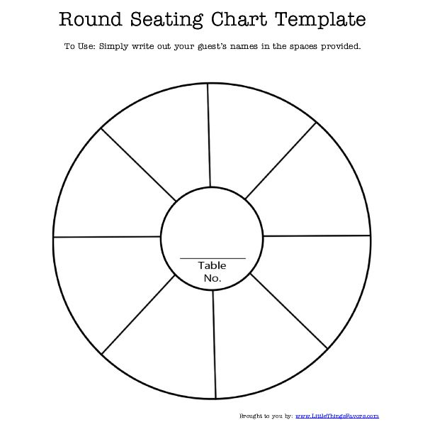 Free Printable #round #seating #chart #template For